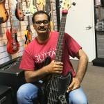 Jayen Varma with Sire Bass Guitar