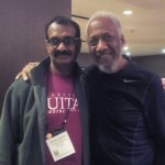 Jayen Varma with Chuck Rainey at NAMM show, LA
