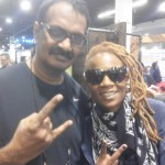 Jayen Varma with Divinity Roxx at NAMM show, LA