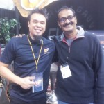Jayen Varma with Jay Baldemor Gruv Gear at NAMM show, LA