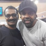 Jayen Varma with Victor Wooten at NAMM show, LA