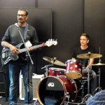 Jean Davoisne with Jayen Varma at NAMM show